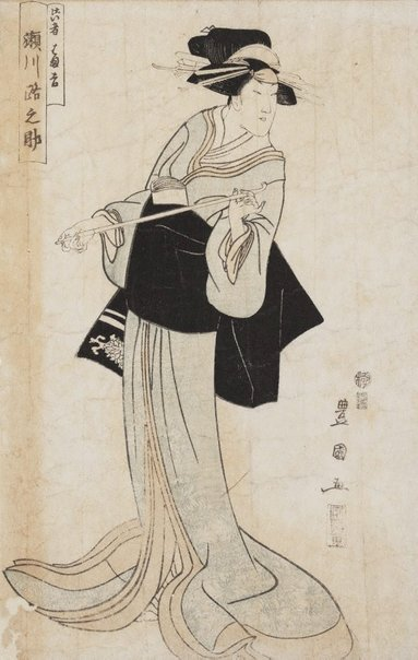 An image of Actor Segawa Michinosuke as Geisha (?) by Utagawa TOYOKUNI
