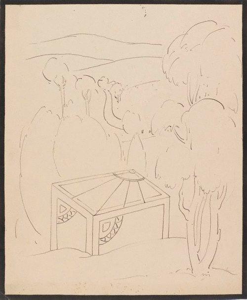 An image of Landscape motif by Roy de Maistre