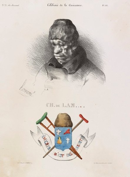 An image of Charles de Lameth by Honoré Daumier