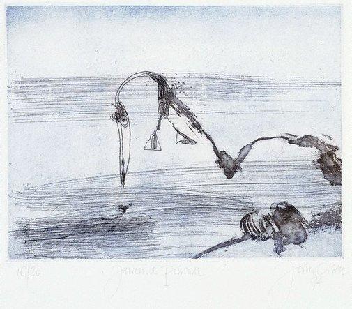 An image of Juvenile pelican by John Olsen