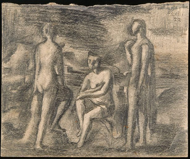 An image of Three figures