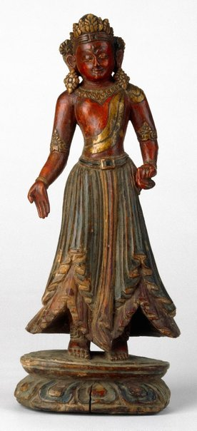 An image of Figure of Bodhisattva, probably Tara by