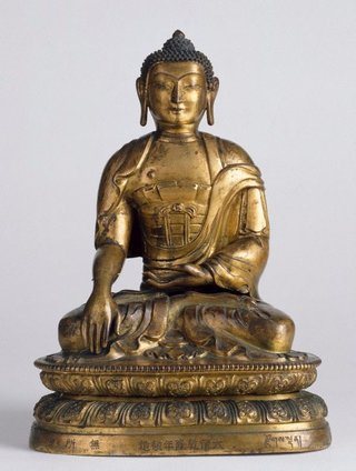 AGNSW collection Seated Buddha calling the Earth to witness (bhumisparsha mudra) 18th century