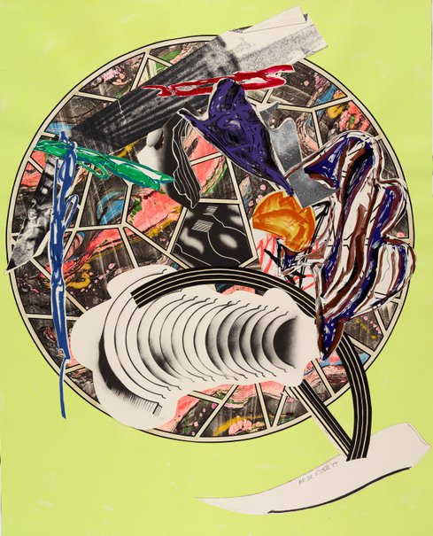 An image of The whale as a dish by Frank Stella