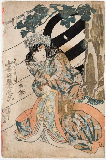 An image of Actor Iwai Kumesaburō III as Kahoyo Gozen by Utagawa Kunisada/Toyokuni III