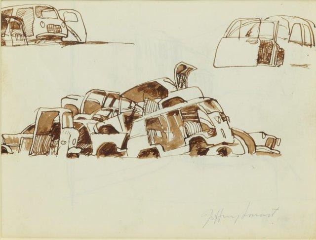 An image of Study for 'Motor dump, Pisa I' 1971