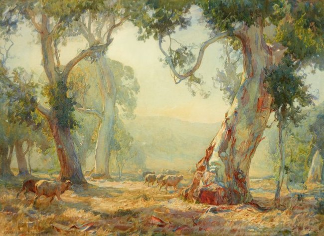 AGNSW collection Hans Heysen Summer 1909