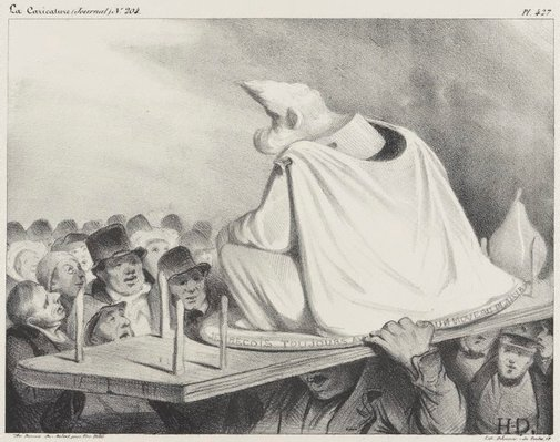 An image of The nodding head by Honoré Daumier