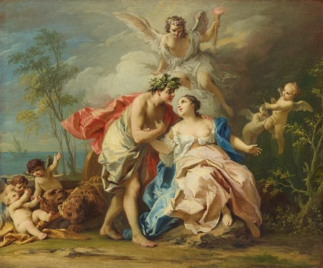 Bacchus and Ariadne, (circa 1740-circa 1742) by Jacopo Amigoni