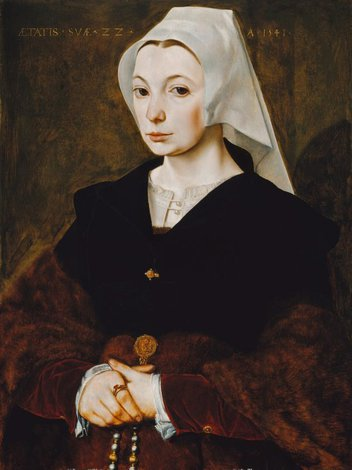 Portrait of a young woman, 1541 by The Master of the 1540s