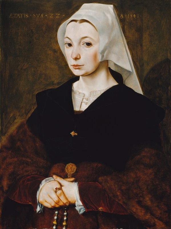 Portrait of a young woman, (1541) by The Master of the 1540s