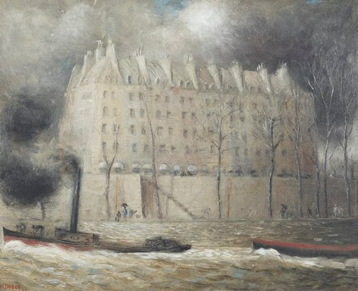 An image of Sunshower, Ile de la Cité by William Dobell