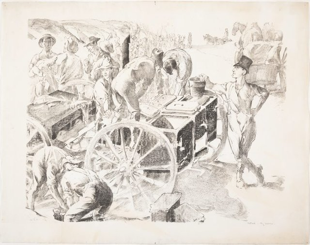 An image of The cookers, near Villers Bretonneux, Somme, 1918