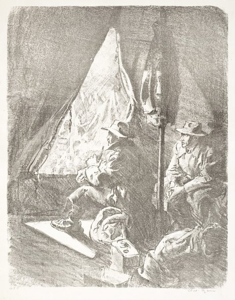 An image of The misery of rest camps by Will Dyson