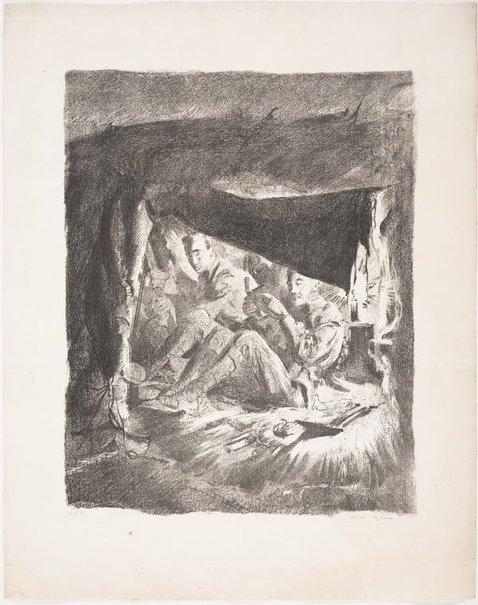 An image of Funkhole near Bullecourt, 1917 by Will Dyson