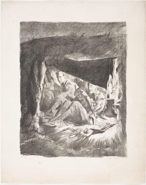 An image of Funkhole near Bullecourt, 1917