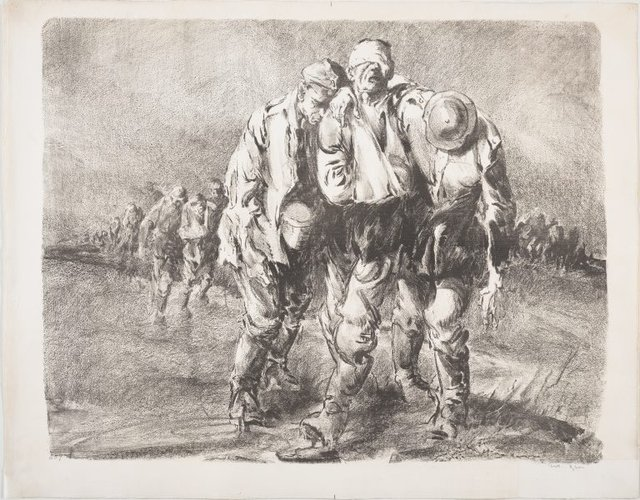 An image of Wine of Victory (Wounded German prisoners near Ypres)