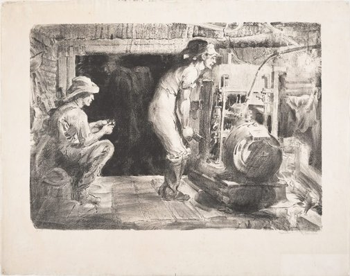An image of The dynamo. Hill 60. 1917. Lighting the tunnels by Will Dyson