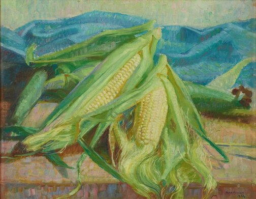 An image of Corn cobs by Nora Heysen