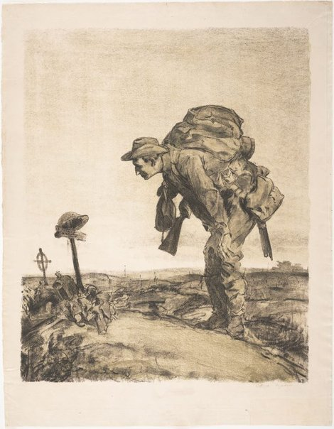 An image of One of the old platoon by Will Dyson