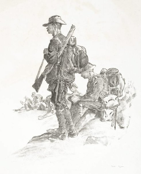 An image of Reinforcements by Will Dyson