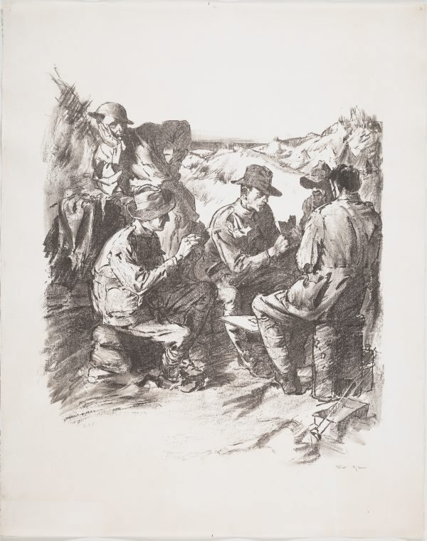 An image of With the tunnellers near Nieuport