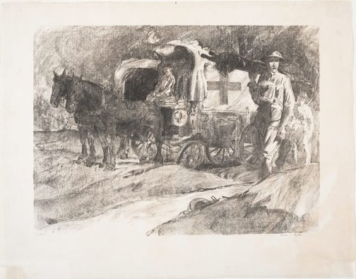 An image of Waggon post, Vaux by Will Dyson