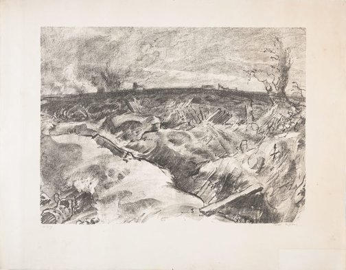 An image of Messines, morning of the offensive by Will Dyson