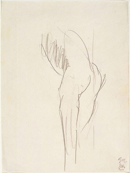 An image of Figure study - back view by Godfrey Miller