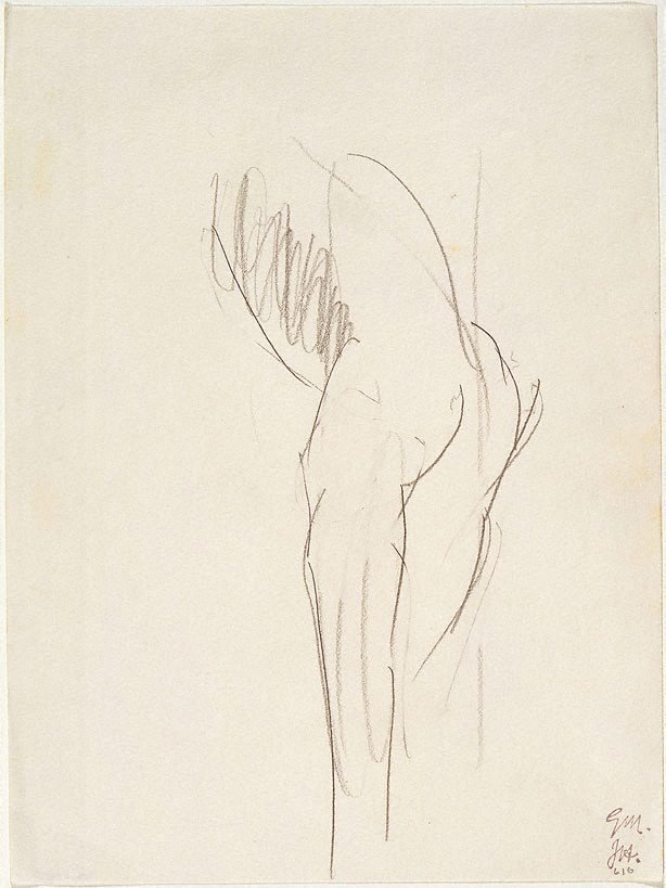 An image of Figure study - back view