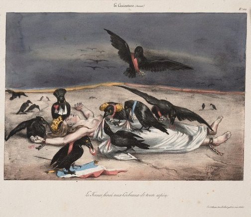 An image of France delivered up to every kind of carrion crow by Jean-Jacques Grandville, Eugene Hippolyte Forest