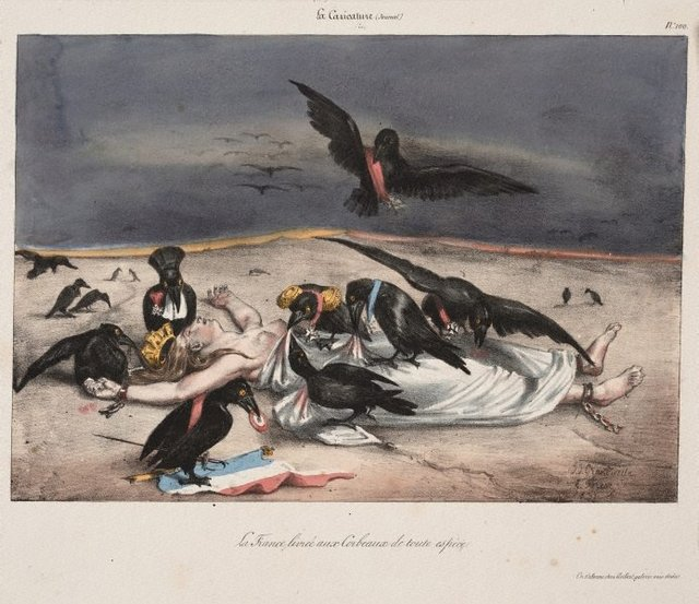 An image of France delivered up to every kind of carrion crow