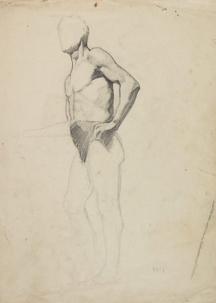 An image of (Standing male nude) by Roland Wakelin