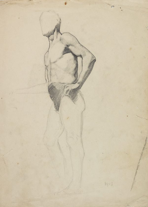 An image of (Standing male nude)