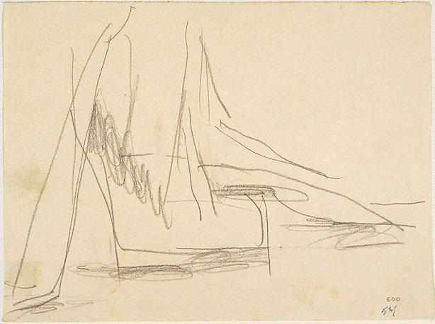 An image of recto: Reclining figure verso: Seated figure