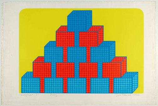 An image of Ziggurat 7 by Joe Tilson