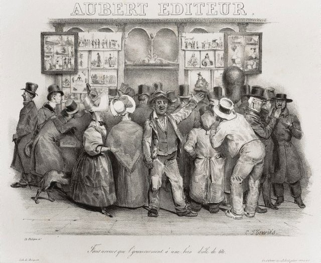 An image of The publisher Aubert. You must admit the government has a comic appearance