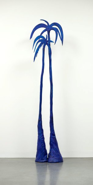 An image of (Free standing ultramarine) Palm trees by Brett Whiteley