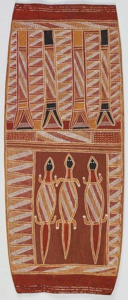 An image of Wagilak story by attrib. Dick Yambal Durrurrnga, Binyinyuwuy Djarrankuykuy