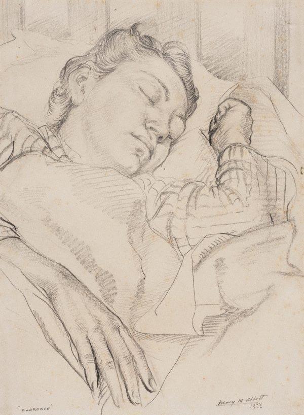 An image of Florence sleeping