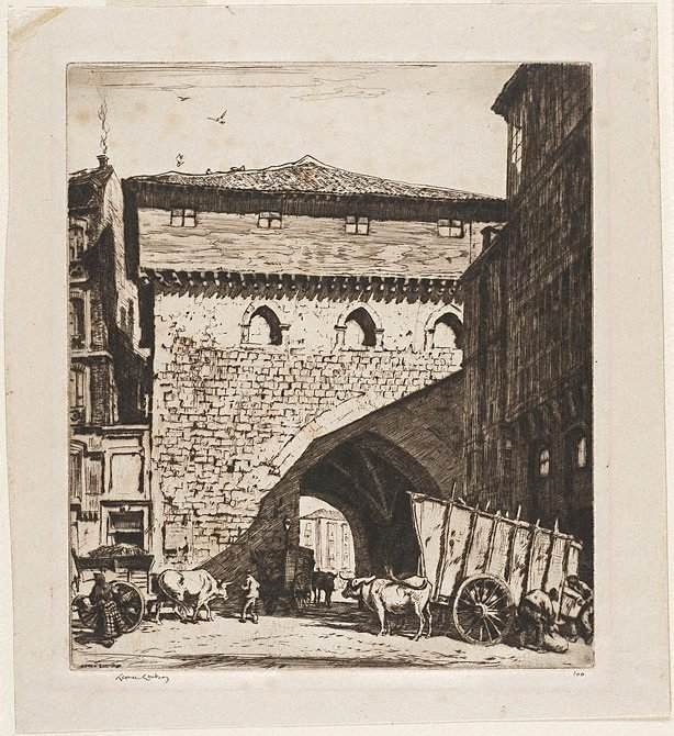 An image of The town gate, Burgos