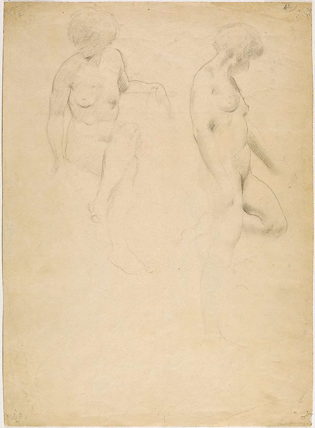 An image of (Male nude study) (Student studies)
