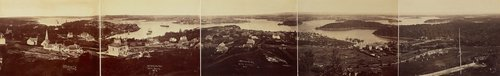 An image of Panorama of Sydney and the Harbour, New South Wales by Charles Bayliss, Bernard Otto Holtermann
