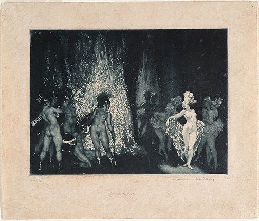An image of The Amazons by Norman Lindsay