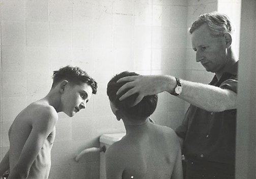 An image of Look what they are doing to Richard. He's being changed into a girl, under my very eyes by David Potts