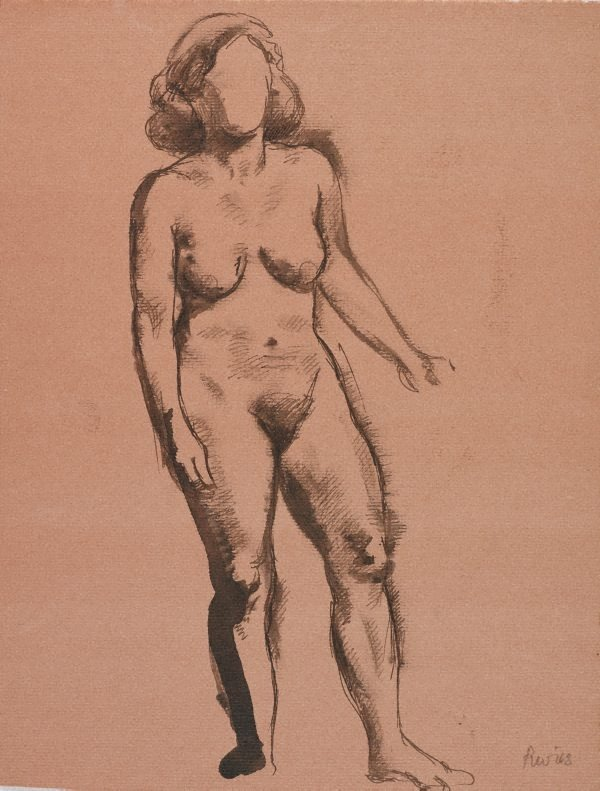 An image of (Standing female nude)