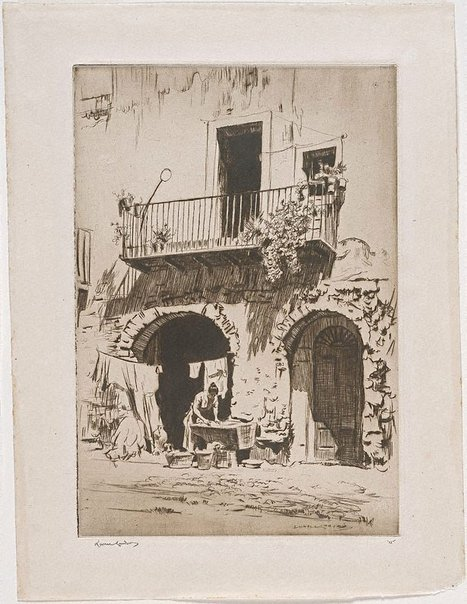 An image of The wash, Taormina by Lionel Lindsay