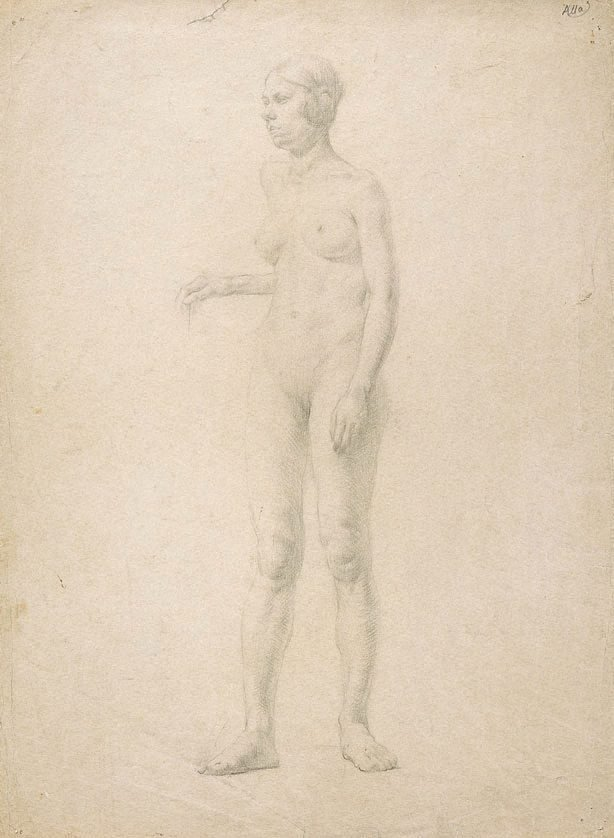 An image of (Female nude) (Student studies)