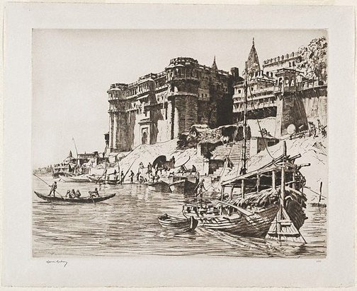 An image of A rajah's palace, Benares by Lionel Lindsay