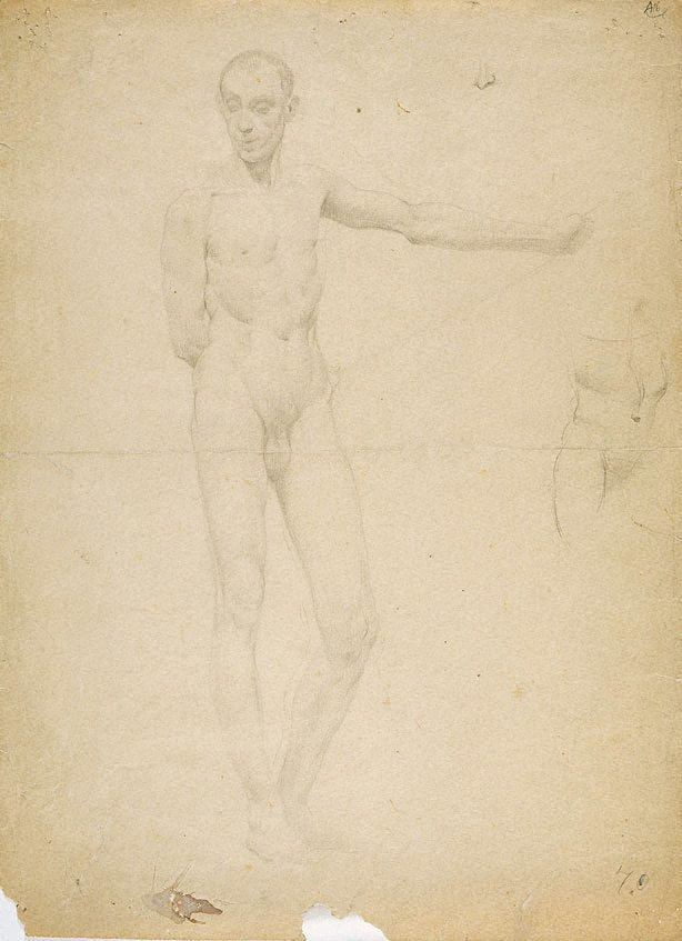 An image of (Female figure studies; one from rear) (Student studies)